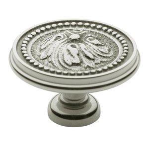 "Baldwin Hardware 1 1/2"" Diameter Ornamental Knob in Polished Nickel"