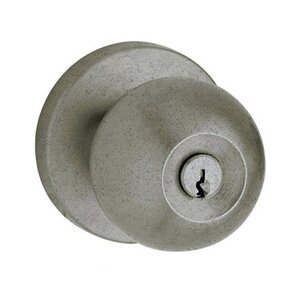 Baldwin Hardware Keyed Entry Door Knob with Rose in Distressed Antique Nickel