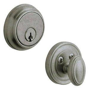 Baldwin Hardware - Single Cylinder Traditional Deadbolt  in Distressed Antique Nickel