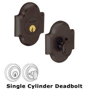 Baldwin Hardware Single Cylinder Deadbolt in Venetian Bronze