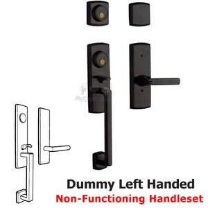 Baldwin Hardware Two Point Left Handed Full Dummy Handleset with Lever in Distressed Oil Rubbed Bronze