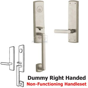 Baldwin Hardware Escutcheon Right Handed Full Dummy Handleset with Lever in Lifetime PVD Satin Nickel
