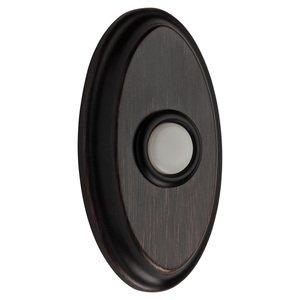 Baldwin Hardware Illuminated Oval Door Bell in Venetian Bronze