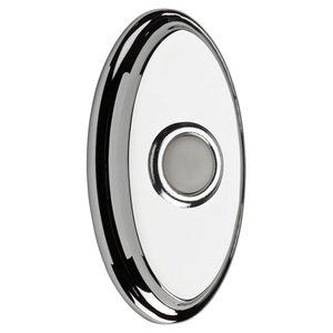 Baldwin Hardware Illuminated Oval Door Bell in Polished Chrome