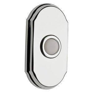 Baldwin Hardware Illuminated Arch Door Bell in Polished Chrome