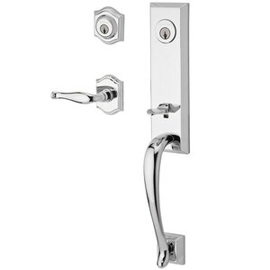 Baldwin Reserve - Del Mar Handleset with Right Handed Decorative Lever and Traditional Arch Rose in Polished Chrome