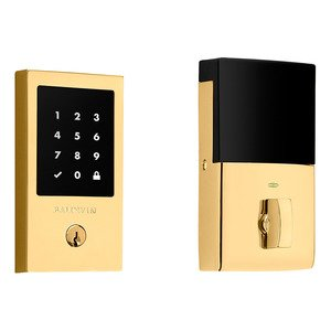 Baldwin Hardware Minneapolis Touchscreen Deadbolt with Z-Wave in Non-Lacquered Brass
