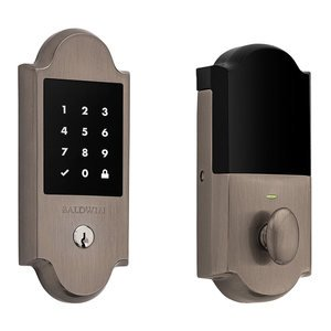 Baldwin Hardware Boulder Touchscreen Deadbolt in Antique Nickel