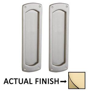 Baldwin Hardware Palo Alto Full Dummy Pocket Door Set in Lifetime Brass