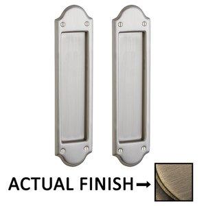 Baldwin Hardware Boulder Passage Mortise Pocket Door Set in Antique Brass