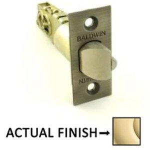 Baldwin Hardware Keyed Universal Deadlocking Latch for Keyed Entry in Unlacquered Brass