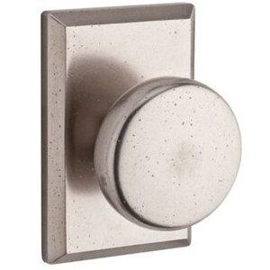 Baldwin Hardware Full Dummy Door Knob with Square Rose in White Bronze