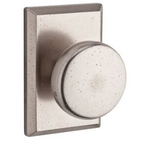 Baldwin Hardware Privacy Door Knob with Square Rose in White Bronze
