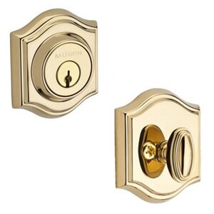 Baldwin Reserve - Single Cylinder Traditional Arch Deadbolt in Polished Brass