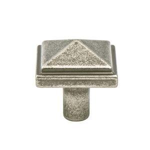 "Berenson Hardware 1 3/16"" Long Artisan Inspired Pyramid Knob in Weathered Nickel"
