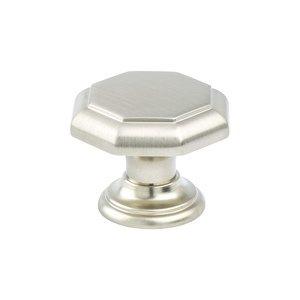 "Berenson Hardware 1 3/8"" Diameter Timeless Charm Octagonal Knob in Brushed Nickel"