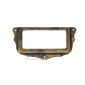 Bosetti Marella By Classic Hardware File Cabinet Label Holder In Antique Brass Distressed