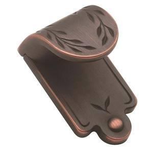 """Amerock Finger Pull 1 7/8"""" X 1 1/16"""" in Oil Rubbed Bronze"""
