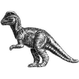 Big Sky Hardware Dilophosaurus Dinosaur Knob in Pewter