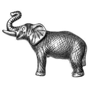 Big Sky Hardware Elephant Knob in Pewter