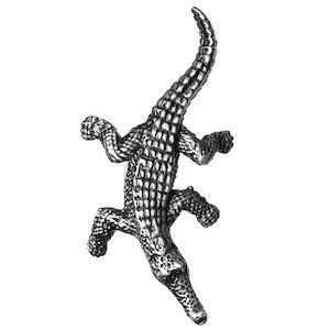 Big Sky Hardware Right Facing Crocodile Knob in Pewter