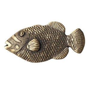 Big Sky Hardware Hook Fish Knob in Antique Brass