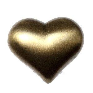Big Sky Hardware Kids Heart Knob in Antique Brass