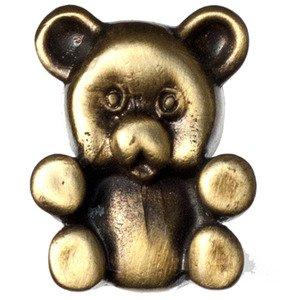 Big Sky Hardware Teddy Bear Knob in Antique Brass