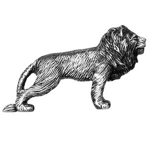 Big Sky Hardware Lion Knob in Pewter