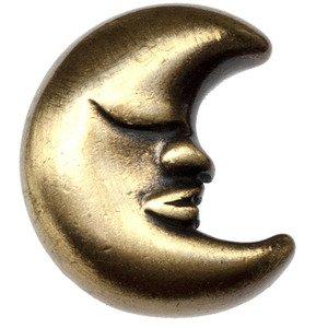 Big Sky Hardware Large Moon Knob in Antique Brass