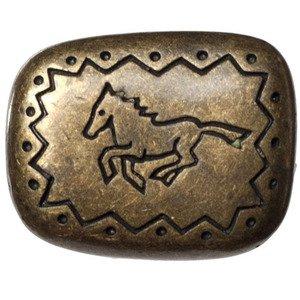 Big Sky Hardware Southwest Running Horse Knob in Antique Brass