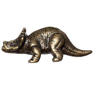 Big Sky Hardware Styracosaurs Dinosaur Knob in Antique Brass