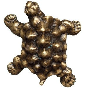 Big Sky Hardware Turtle Knob in Antique Brass