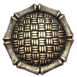 """Big Sky Hardware 1 1/2"""" Diameter Woven Strands and Bamboo Knob in Antique Brass"""