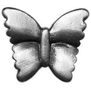 Big Sky Hardware Kids Butterfly Knob in Pewter