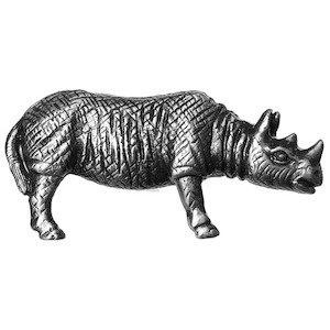 Big Sky Hardware Rhino Knob in Pewter