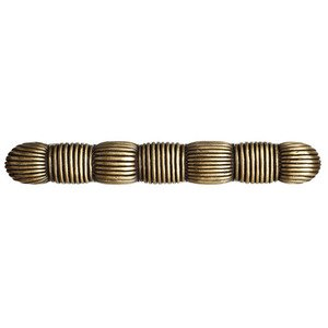 """Big Sky Hardware 3"""" Centers Woven Strands Straight Handle in Antique Brass"""