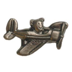 Novelty Custom Hardware - In Transit Collection - Airplane with Teddy Bear Knob