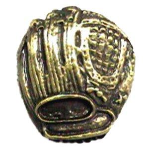 Novelty Hardware Baseball Glove Knob in Antique Brass