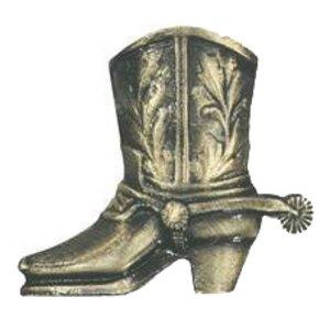 Novelty Hardware Cowboy Boot Knob in Antique Brass