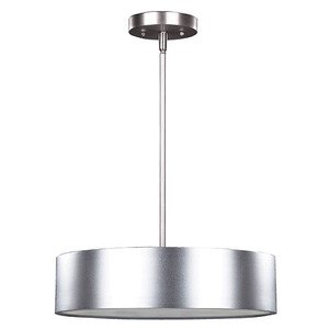 """Canarm 15 3/4"""" Pendant in Aluminum with Frosted Glass"""