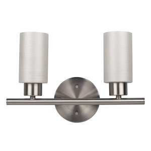 Canarm - Margo - Double Bath Light in Brushed Pewter with White Painted Glass