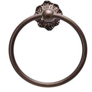 Carpe Diem Hardware Acanthus Full Swing Towel Reeded Ring Renaissance Style in Cobblestone