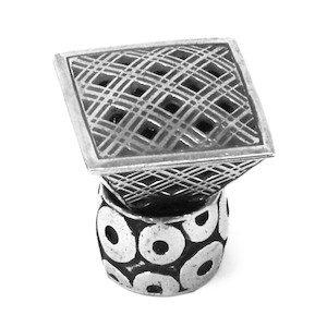 Carpe Diem Hardware Geometric Triangle Knob With Sleeve in Bronze