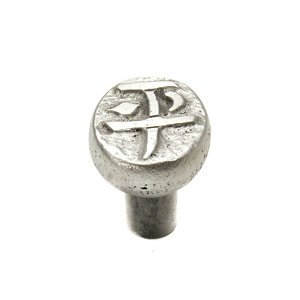 "Carpe Diem Hardware ""Prosperity"" Oval Knob in Cobblestone"
