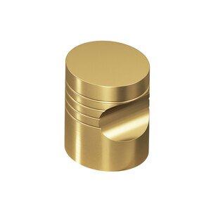 "Colonial Bronze 3/4"" Diameter Striped Knob in Satin Brass"