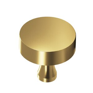 "Colonial Bronze 1 1/4"" Diameter Knob in Satin Brass"