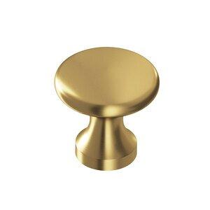 "Colonial Bronze 7/8"" Diameter Knob in Satin Brass"