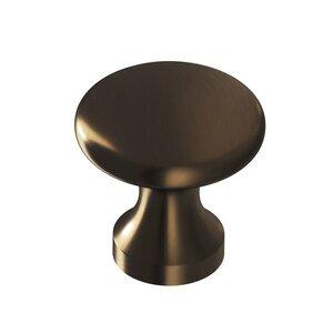 """Colonial Bronze 1 1/8"""" Diameter Knob In Oil Rubbed Bronze"""