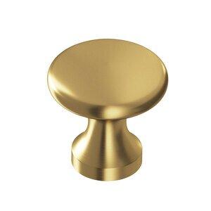 "Colonial Bronze 1 1/8"" Diameter Knob in Satin Brass"